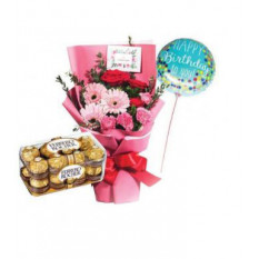 Paquete de cumpleaños rosa rubor