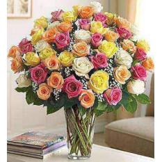 Última elegancia de tallo largo Rosas Blancas (24 Vapor)