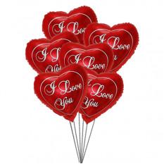 Te quiero Balloon Bouquet (3 Látex y 3 Globos de Mylar)