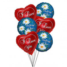 Thoughtful Balloons Bouquet (6 Latex & 3 Mylar Balloons)