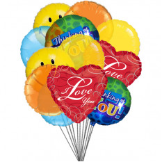 Globos Lovely (6-Mylar y 6-Latex globos)