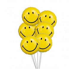 Smiley Balloon Bouquet (3 Látex y 3 Globos de Mylar)