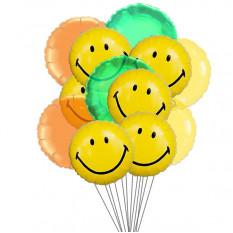 globos amplia sonrisa (6-Mylar y 6-Látex Globos)