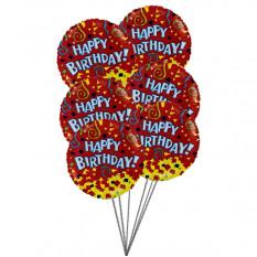 globos del feliz cumpleaños con el color del amor (3 Látex y 3 Globos de Mylar)