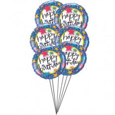 Los globos coloridos (3 Látex y 3 globos metalizados)