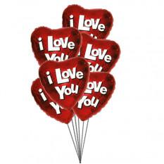 Globos Amor verdadero (3 Látex y 3 Globos de Mylar)