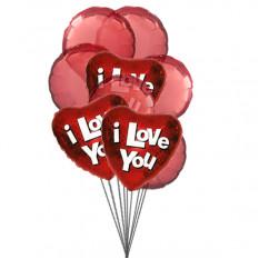 Globos de amor (6 Látex y 3-Mylar globos)