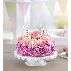 Flor de la torta de cumpleaños en colores pastel (Pequeño)