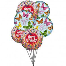 Balloons full of excitement (6 Latex & 3-Mylar Balloons)