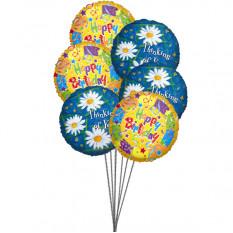 El cumpleaños hincha amarillo dulce