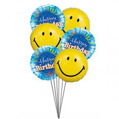 Globos sonriente del cumpleaños
