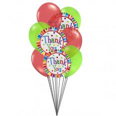 Gracias mucho globos (6 Látex y 3-Mylar globos)