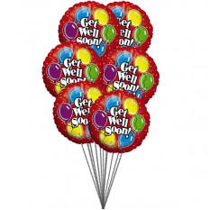 Que te mejores pronto deseos (6 Mylar globos)