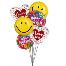 globos preciosas aniversario (6 Mylar globos)