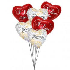 Globos ramo de amor (6 Látex y 6 globos de Mylar)