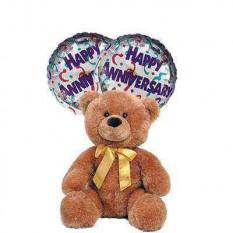 Aniversario con mi amor (peluche + 2 globos)