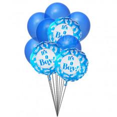 Azul para los niños (6 Látex y 3 globos metalizados)