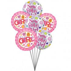 globos encantadores para bebé encantador (3 Látex y 3 globos metalizados)