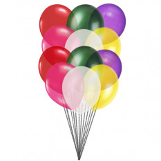 Globos de colores (12 globos de látex)