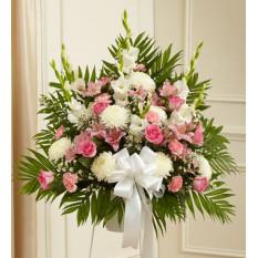Sentida simpatías Permanente Basket-rosa y blanco (Premium)