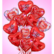 Air-Rangement - Love & Romance Mylar Balloons (Una docena)