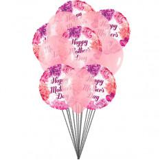 """Bouquet de globos """"Deseos del día de la madre"""" (globos 6-Mylar y 6-Latex)"""