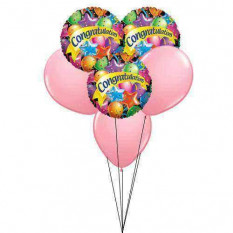 ponche de color rosa 'Enhorabuena'