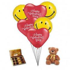 Dulce sonrisa con Teddy Balloons