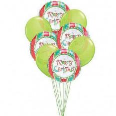 Celebración de globos de navidad
