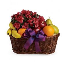 Cesta de frutas y flores (estándar)