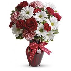 Ramo de Abrazos y Besos con Rosas Rojas (Premium)
