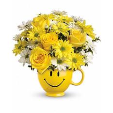 Ramo ser feliz con las rosas (Deluxe)