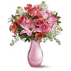 Reflexiones de color rosa ramo de rosas (Deluxe)