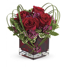 Giftblooms Sweet Thoughts Bouquet con rosas rojas (pequeñas)