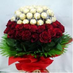 Ramo de Rosas Rojas Chocolate N