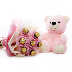 Pink Teddy con chocolate
