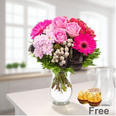 Bouquet de flores Ambiente con jarrón