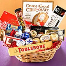 Cesta de regalo de chocolate C