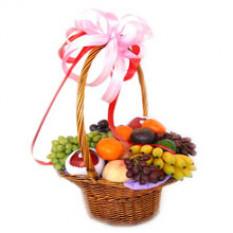 Elegante cesta de fruta