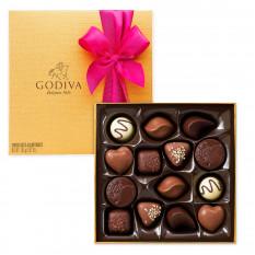 Godiva Decorated Gold Box, 14 piezas