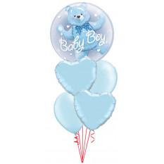 Es un Boy Bear Double Bubble Baby Bouquet
