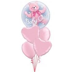 Es una niña oso Doble Bubble Baby Bouquet