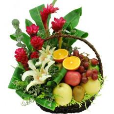Cesta de flores y frutas 06 (pequeña)