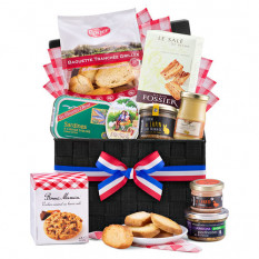 Cesto de picnic francés gourmet