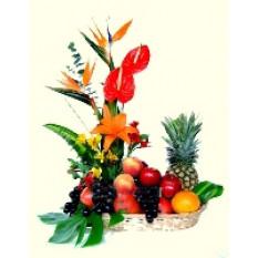 Cesta de fruta de Tahití