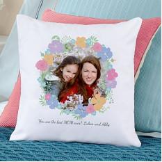 Almohada floral de la foto