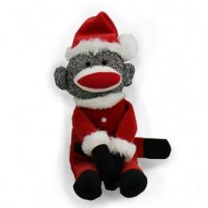 Santa Sock Monkey - 12 pulgadas