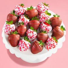 18 Love Bites Fresas cubiertas de chocolate (tamaño divertido)
