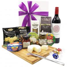 Bandeja de queso y cesta de vino - 1
