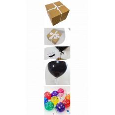 Cumpleaños Pop Me Balloon en una caja